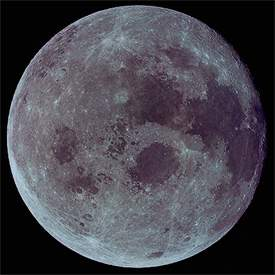 Photo of the satellite Moon of the planet Earth