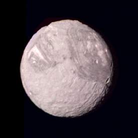 Photo of the satellite Miranda of the planet Uranus