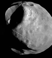 Photo of the satellite Phobos of the planet Mars