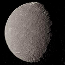 Photo of the satellite Umbriel of the planet Uranus